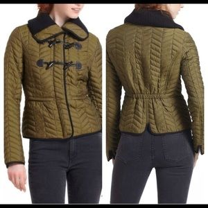 Anthropologie Cartonnier XS 0 Jacket Green Quilted